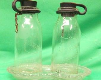 Vintage Milk Sample Bottles - Mojonnier Dairy