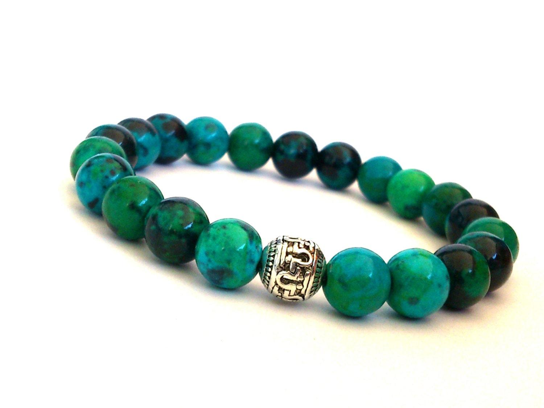 beaded bracelet gemstone stretch bracelet turquoise