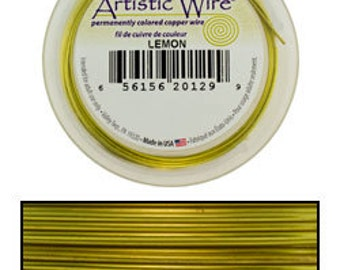 Artistic Wire SP Lemon Color 18ga - 20 Foot Spool  (WR36218)