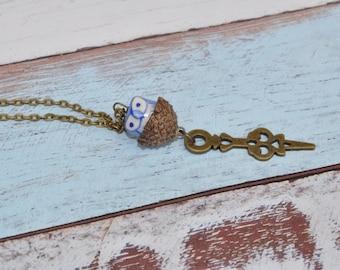 Acorn Jewelry - Owl - Unique Necklace