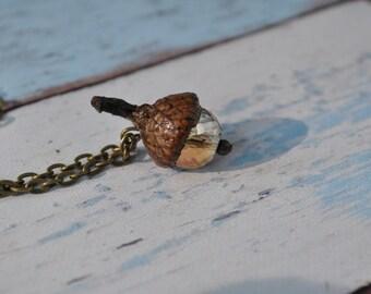 Jewelry - Acorn Necklace - Orange