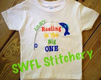 First Birthday Shirt/Onesie: Reeling in the Big 1