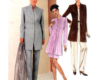 McCall's Sewing Pattern 2051 Misses' lined Jacket, Skirt, Pants  Size:  F  16-18-20  Uncut
