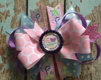 You Give Me BUTTERFLIES Girly Dainty Stacked Twisted OTT Boutique Bow Photo Prop