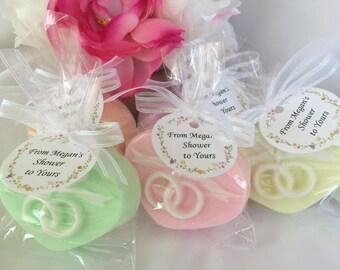 Soap Wedding Favors - Set of 10 - Wedding Rings Soap - Wedding Ring Soap Favor - Heart Shaped Soap - Heart Shaped Wedding Ring Soap