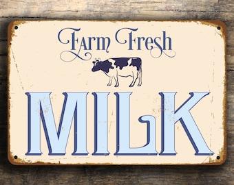 FRESH MILK SIGN, Fresh Milk Signs, Vintage style Milk Sign, Farm Fresh Milk, Farmhouse Decor, Shop Milk Sign,fresh milk sign Farm Fresh Sign