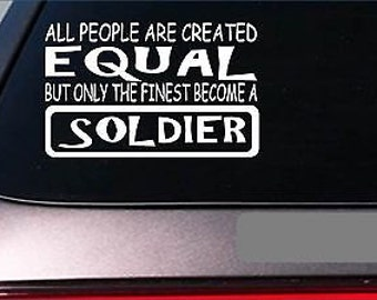 """Soldier Equal Sticker *G746* 8"""" Vinyl Army Navy Air Force Marines Reserves"""