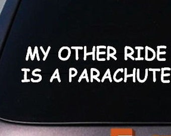 Parachute Sticker My Other Ride Parachute Decal Sticker Skydiving