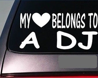 "Dj My Heart Belongs Sticker *G506* 8"" Vinyl Disc Jockey Turntable Record Mc"