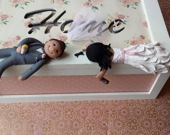 drunk bride wedding cake amp groom wedding cake topper by tailormadetoppers 13761