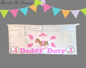 Daddy Duty Tool Belt - Baby Cow Girl Sitting