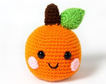 PATTERN: Orange Amigurumi Crochet Pattern - PDF Digital Download