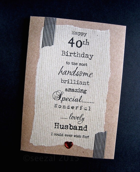 Larger 30th 40th 50th Birthday Card For HUSBAND Handsome