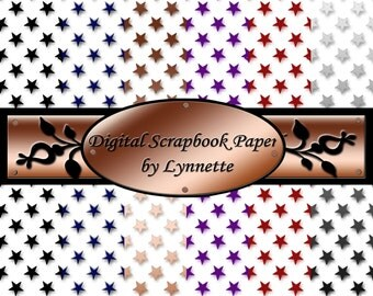 Digital Scrapbook Paper: Stars