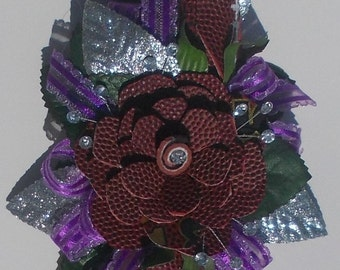 Football Rose Corsage