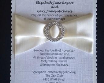 50 CUSTOM WEDDING INVITATION any Color