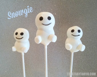 FROZEN Snowgie inspired cake pops