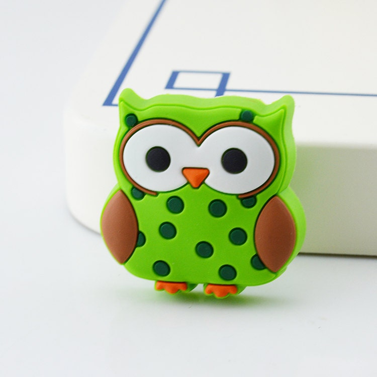Owl dresser pulls drawer pull handles knob children for Children s bureau knobs