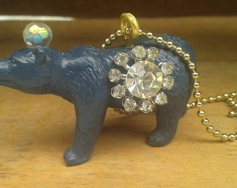 Night Sky bear necklace - May sale, 20% off!