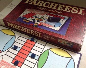 Vintage 1989 Milton Bradley Parcheesi board game royal game of India