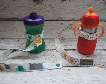 Sippy Leash - Design Your Own Sippy Tether / Bottle Leash / Sippy Cup Strap / Sophie Holder