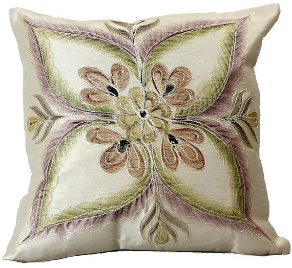 Vibrant Floral Throw Pillow Covers 18 X 18 Set