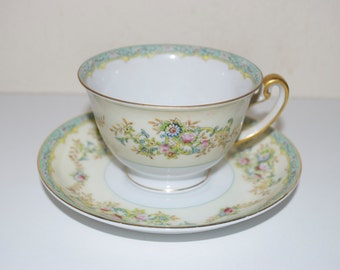 Meito Pattern # MEI549 China Tea Cup & Saucer Made in Japan