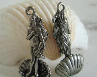 Sea Goddess Charm,SEA Charm,Ocean Nautical Charm,