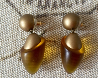 Vintage Pierced Dangle Drop Earrings RARE