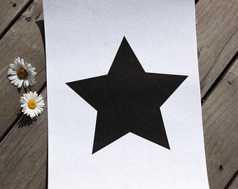 Paper Fabric Black Star