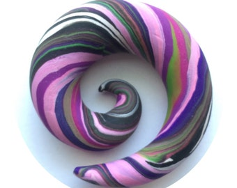 "SALE! 14mm (9/16"") Scrapwork Spirals for Stretched Ears"