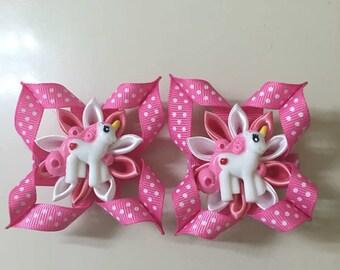My Little Pony Inspired Hairclips - Handmade