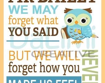 Teacher Appreciation Print - End of Year Teachers Gift - Personalised Teachers Gift - Printable Digital Art!