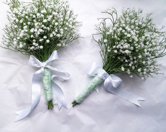Babys breath, gypsophilia, silk flowers gypsophila, wedding bouquet, bridal bouquet, fabrics brooch bouquet, silk bouquet,bouquet