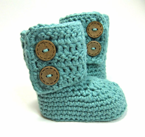 Crochet Pattern For Baby Ugg Booties : Crochet Baby Booties Ugg Style Boots Gender by ...