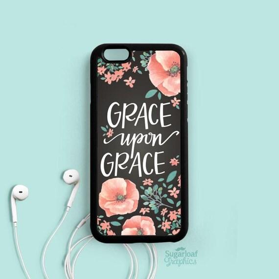Grace upon Grace John 1:16 Bible verse Quote iPhone 7 6 plus