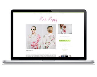 Pink Poppy Responsive Wordpress Theme | Instant Digital Download