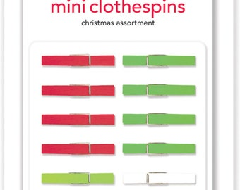 PRICE REDUCED! Assorted Christmas Mini Clothespins from Doodlebug Design's Sugarplum Collection