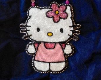 Hello Kitty Beaded Medallion