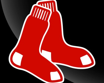 Boston Red Sox Logo Decal Sticker 2 Color