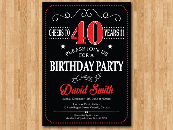 40Th Birthday Wording For Invitations for luxury invitations example