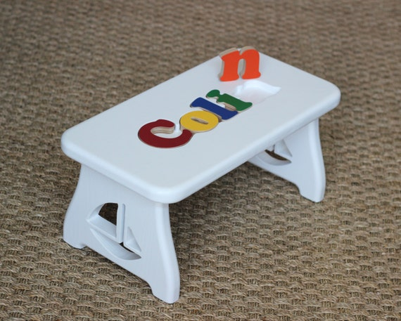 Name Puzzle Step Stool First Birthday Second Birthday Baby