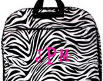Zebra Garment Bag with Monogram