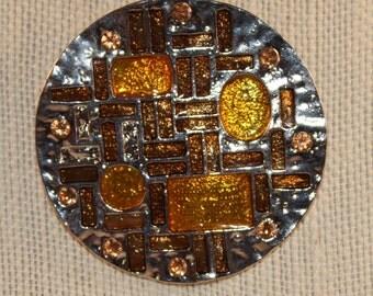 Geometric Pendant Gold