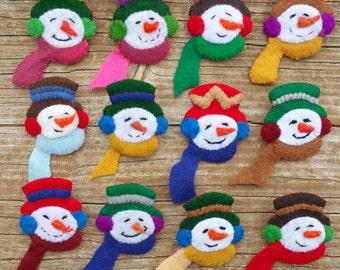 Snowman Brooch (Sold individually)