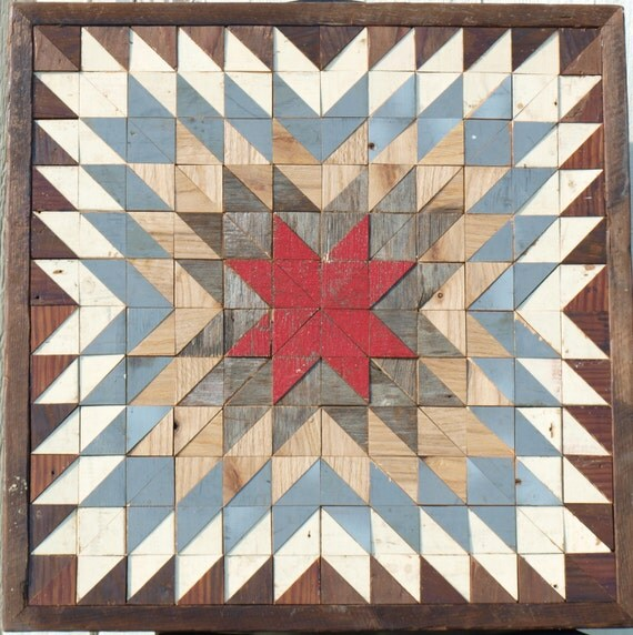 Salvaged Wood Wall Art Southwestern Decor Barn Quilt