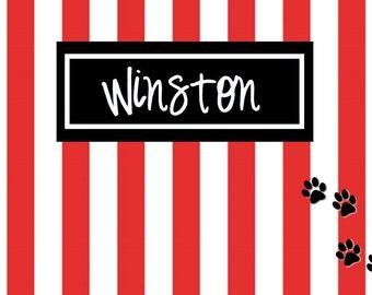 SALE, Personalized Pet Mat, Pet Food Mat, Dog Food Bowl, Water Bowl Mat, Monogram Pet, Personalized Placemat, Pet Decor, Personalized Mat