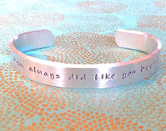 Sibling Gift | Sister | Brother Gift - Mom always did like you best!  - Custom Hand Stamped Bracelet by MadeByMishka.com