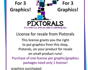 License for Resale from Pixtorals