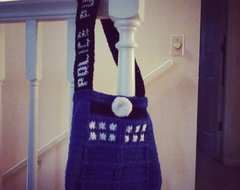 crochet Dr Who purse/bag